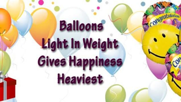 Balloons: Light In Weight Gives Happiness Heaviest