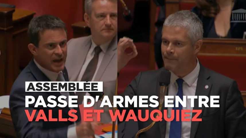 Etat d'urgence : passe d'armes entre Valls et Wauquiez à l'Assemblée