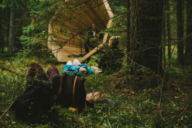 Unplugged kingsize megaphones help nature explorers hear the forests — Estonian Academy of Arts