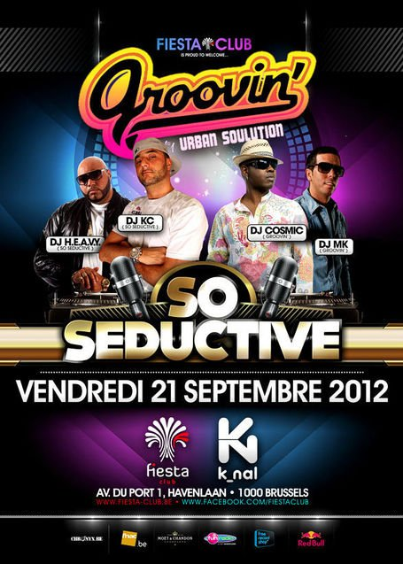 #Clubbing • 21.09.12 • SO SEDUCTIVE vs. GROOVIN' @ Fiesta Club | CHRONYX.be : we love urban music !