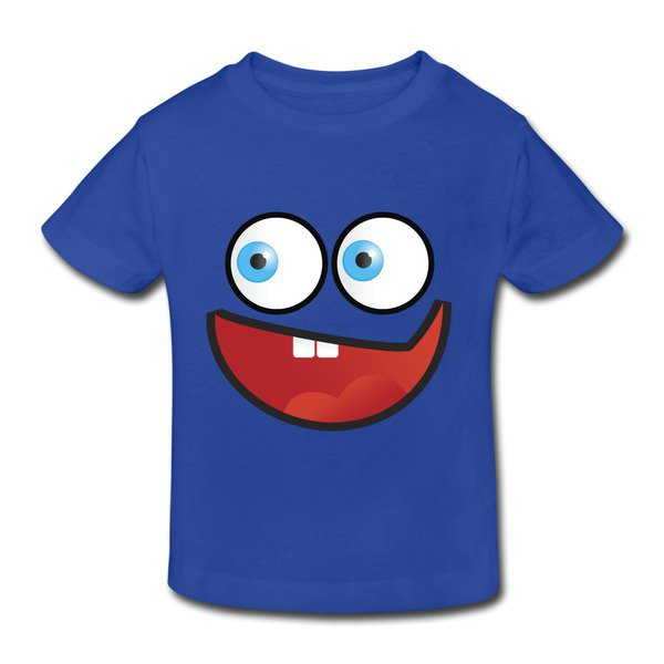 Buy Big Cartoon Face Royal Blue Toddler T-shirt For Toddler Shop-Funny Kids & Babies |HICustom