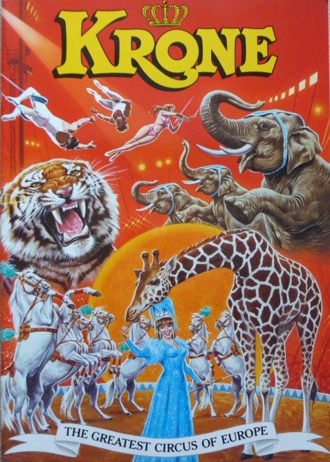 Programme Circus KRONE 1996 - Tournée Pays-Bas + Belgique