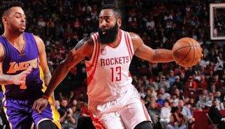 99-Bolabasket: Harden Gemilang, Rockets Bantai Lakers