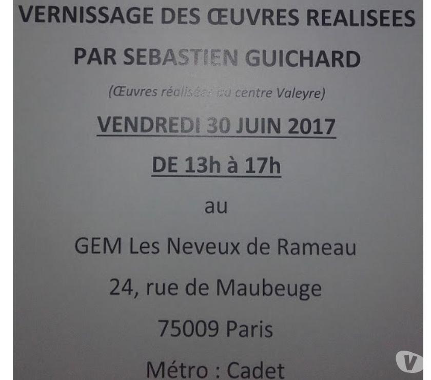 Rencontre amicale Paris 9ème ardt - 75009 - Vernissage de mon exposition 2017