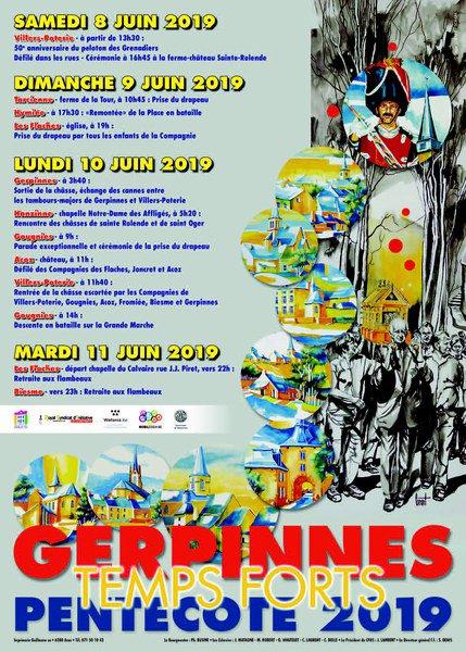 Programme des festivités de la Pentecôte 2019 (procession à sainte-Rolende) — Site de Gerpinnes