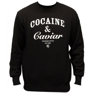 Crooks & Castles Cocaine & Caviar Sweatshirt Black