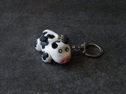 Porte Clés jolie Vache en fimo