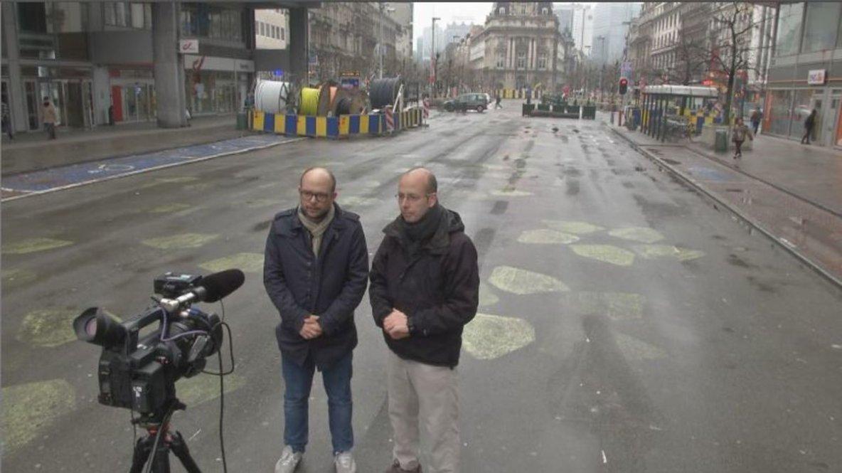 Maxime Landry et Félix Séguin ont effectué une série de reportages, dans le cadre de l'émission «J.E.», à Molenbeek, que le monde appelle désormais «la banlieue du jihad».