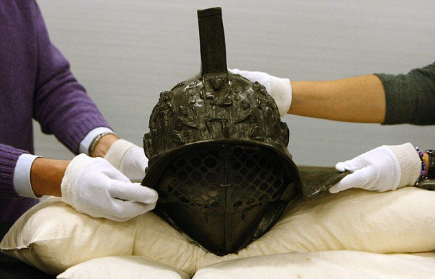 The 2,000-year-old gladiator's helmet discovered