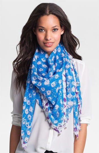 Diane von Furstenberg 'New Bubsy Two' Silk & Cotton Scarf | Nordstrom