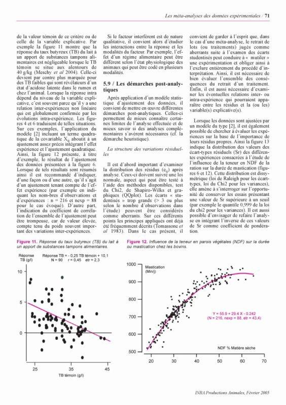 Les méta-analyses des données expérimentales : applications en nutrition animale Part 2