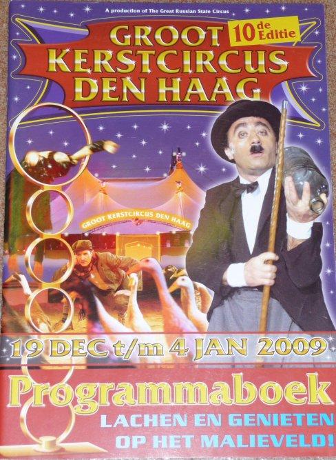 Programme GROOT KERSTCIRCUS DEN HAAG 2009