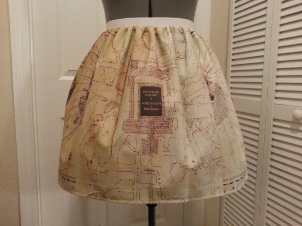 """Harry Potter"" Marauder's Map Full Skirt Let's You Keep Track Of Everyone"