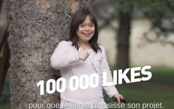 Mélanie, jeune trisomique, présente la météo ce mardi soir sur France 2