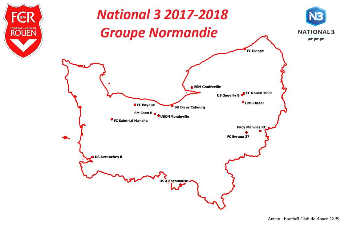 Présentation National 3 Groupe Normandie 2017-2018 Présentation National 3 Groupe Normandie 2017-2018