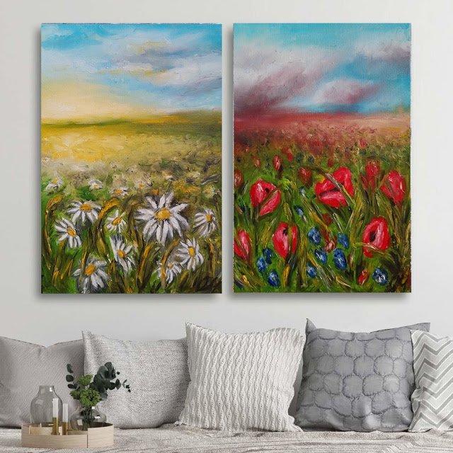 Exposition Art Blog: Milena Olesinska - Living Room Wall Art Ideas