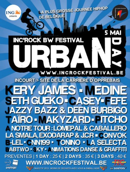 CHRONYX.be offre des ENTREES à l'URBAN DAY #IRF...