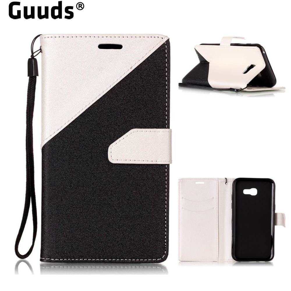 Aliexpress.com : Buy Guuds for Samsung A3 A5 A7 2016 2017 A310 A320 A510 A520 Dual Color Gold Sand Leather Wallet Case for Galaxy A7 2017 A720 from Reliable Wallet Cases suppliers on GUUDS Official...