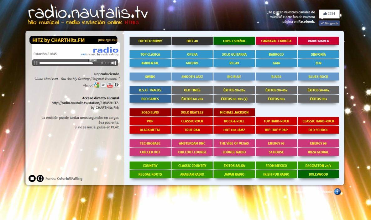 RADIO.NAUTALIS.TV (KCS-SOLEIL-DES) - 10.000 canales de música onLine - Hilo Musical - La música para tu trabajo y tu ocio ¡¡GRATIS!!