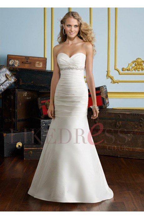 Taffeta Lace up Sweep Train Ivory 2013 Bridal Gowns - Likedress.co.uk