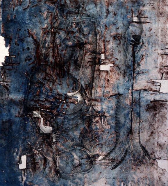 Exposition Art Blog: Vladimír Boudník - Active and Structural Graphic Art