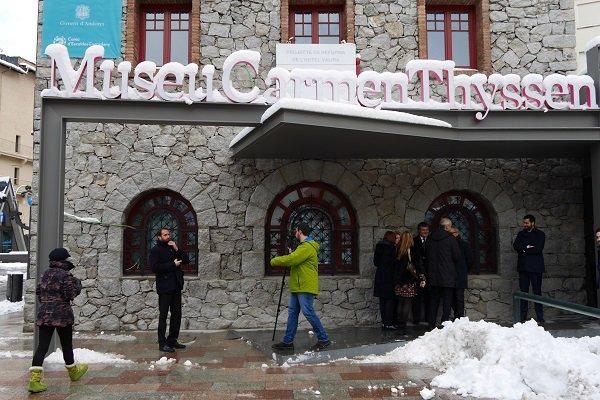 La baronne Carmen Thyssen et le chef de gouvernement d'Andorre Antoni Marti ont visité le musée d'œuvres d'art Carmen Thyssen | ALL ANDORRA