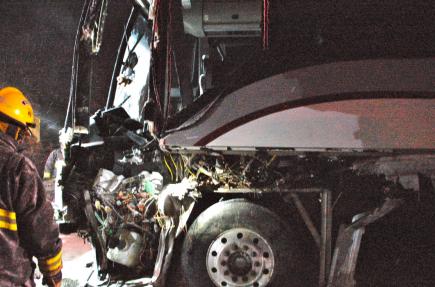 Un accident d'autobus sur la route 132 à Grosses-Roches fait un blessé grave | Johanne Fournier, collaboration spéciale | Justice et faits divers
