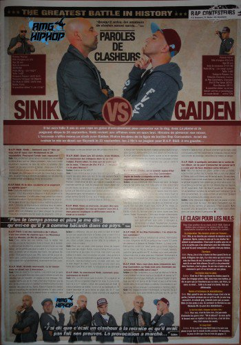 Sinik Vs Gaïden – Paroles De Clasheurs