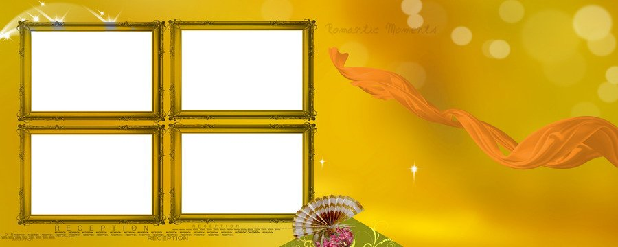Wedding Reception Framed PSD Background Free Download