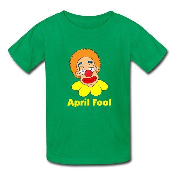 Affordable Funny Clown Head Kelly Green 7600b T-shirt For Kid Shop-Funny T-shirts |HICustom