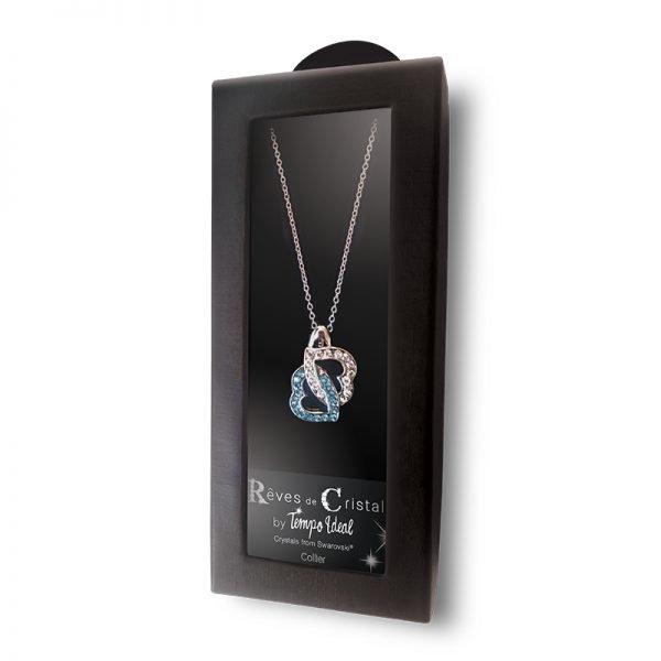 Double Coeur de Cristal - Magie des Bijoux - Pierre minérale