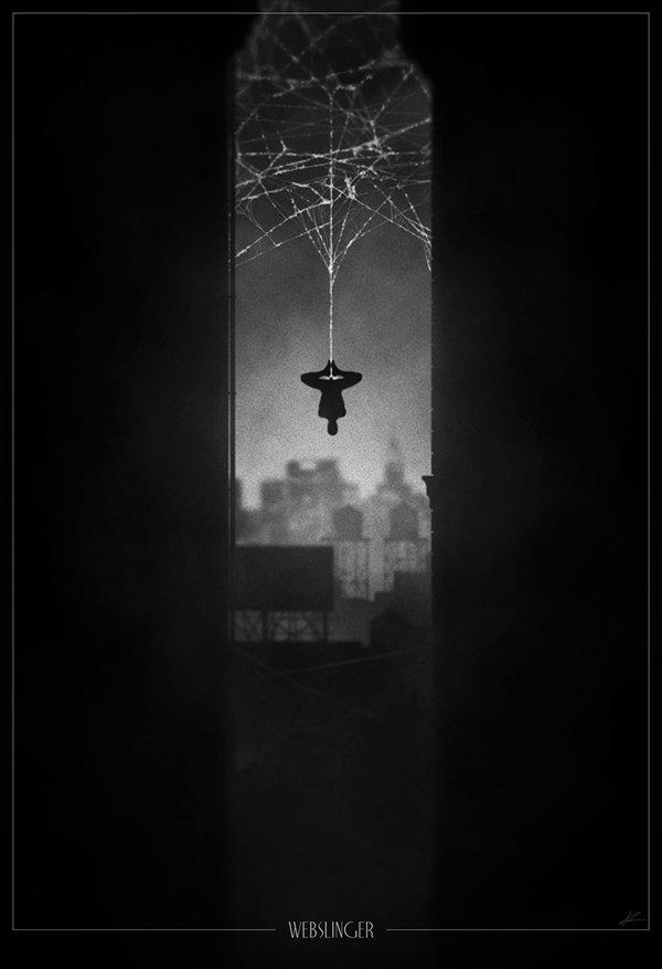 Dark and Moody Superhero Noir Posters