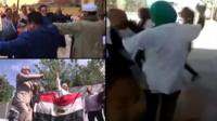 Dancing at Egyptian polling stations