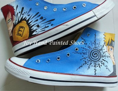 naruto shoes custom canvas shoes naruto anime sneakers painted s,High-top Painted Canvas Shoes