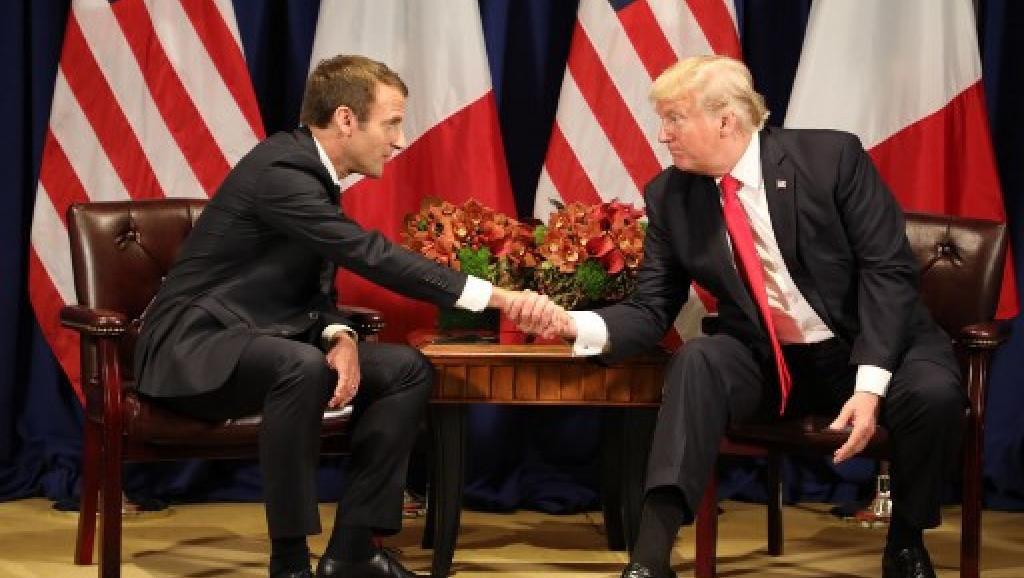 A New York, Trump et Macron font valoir leurs convergences de vue