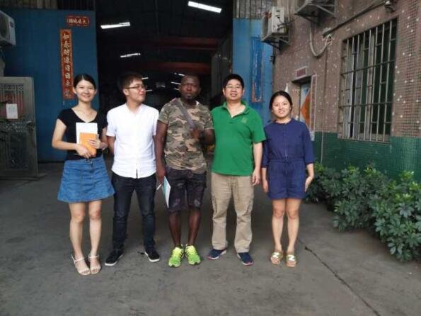 tyre sealant | African clients visit JCT Machinery for tyre sealant (tire sealant) complete plant