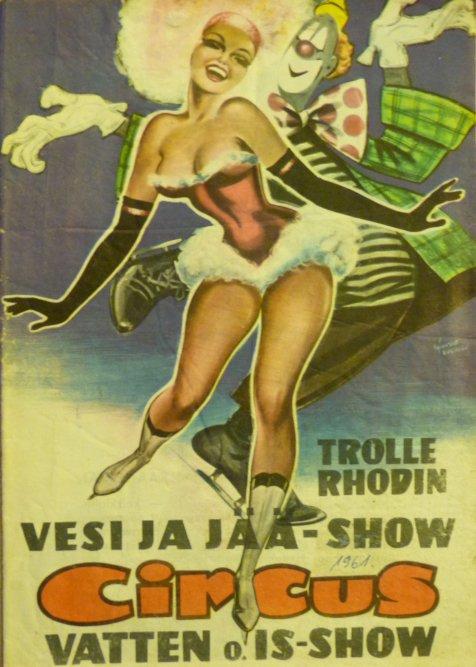 Nouveauté à vendre : Programme CIRCUS TROLLE RHODIN 1961