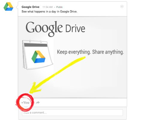 Google Drive Lets You Share Files Directly on Google+