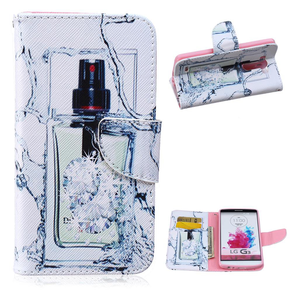 Aliexpress.com : Buy For LG G3 Case Perfume Bottle Leather Wallet Case for LG G3 D850 D855 LS990 FREE SHIPPING from Reliable case for blackberry curve 8900 suppliers on GUUDS Official Store
