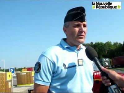 VIDEO. Chaumont-sur-Tharonne : un bus dans le fossé sur l'A71