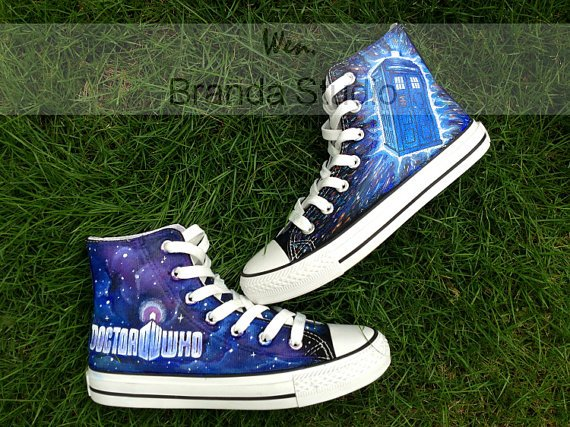 Doctor Who Shoes,Studio High Top Hand Painted Shoes 56.99Usd,Paint On Custom Converse Shoes Only 95Usd,Buy One Get One Phone Case Free