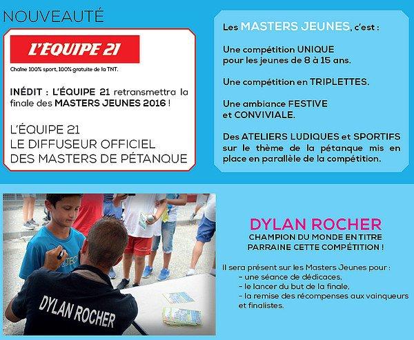 Masters de pétanque jeunes, la tournée 2016 - Masters de Pétanque - ARTICLES sur la pétanque