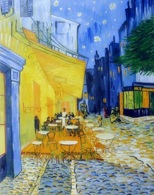 Oil painting reproduction: Vincent Van Gogh Cafe Terrace at Night - Artisoo.com