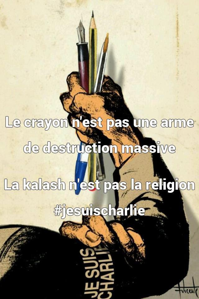 Le crayon n'est pas une arme de destruction massiv...