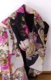 foulard,accessoires,mode,beauté,imprimé,fuchsia,noir