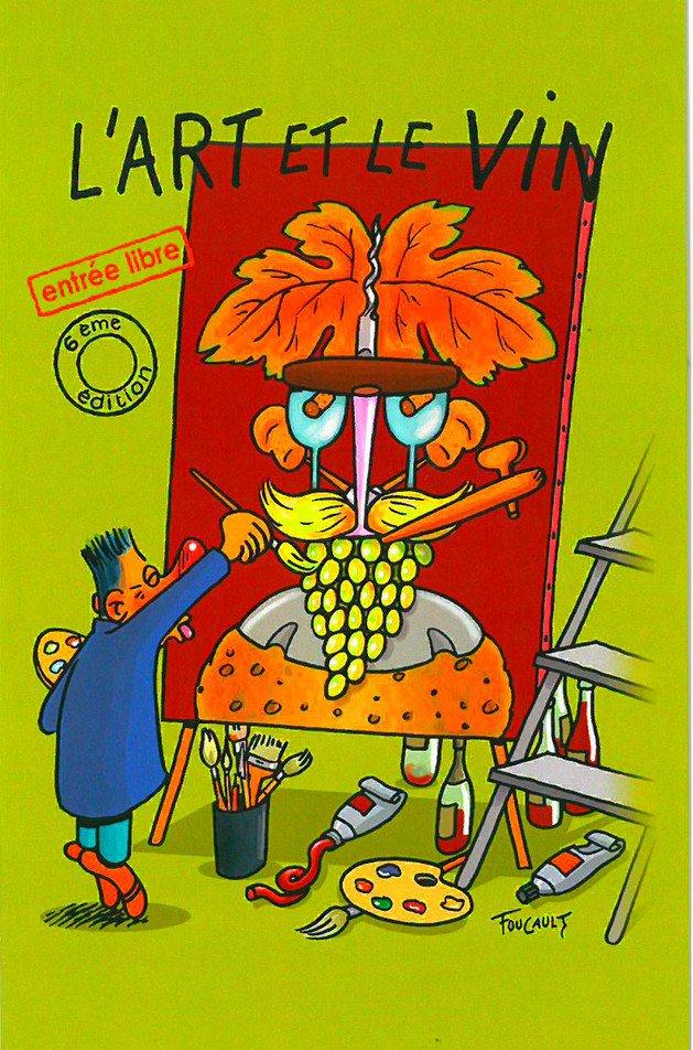 """26/11 : SALON """"L'ART ET LE VIN"""" À BRÉZÉ"""