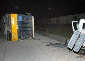 Tunisie , Fait divers : 47 élèves blessés dans la collision d'un bus avec un tracteur – 5 d'entre eux dans un état grave