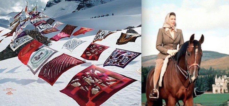 Vite! Un foulard Hermès pour la reine d'Angleterre!