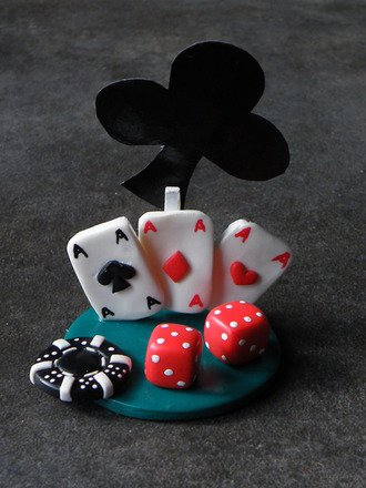 Marque place / porte prénom sur le thème du Casino : Cuisine et service de table par jl-bijoux-creation