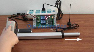 12V DC Linear Actuator Motor is Controlled by Remote Controller and Manual Switch